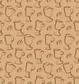 Seamless Pattern with Set Cup of Coffee Drinks and vector image