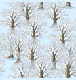 seamless winter forest vector image vector image