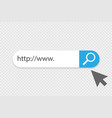 search www icon search www bar for ui vector image vector image