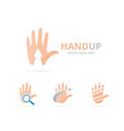 set of hand logo combination arm and growth vector image