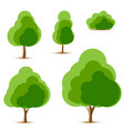 set of tree and bush icons vector image