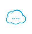sleepy cloud logo vector image