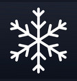 snowflake icon outline style vector image vector image