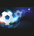soccer balls on blue background vector image