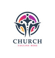 spiritual sports logo design vector image
