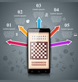 sport chess smartphone business vector image