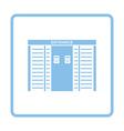 Stadium entrance turnstile icon vector image