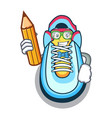 student cartoon pair of casual sneakers vector image
