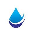 waterdrop arrow icon business logo vector image vector image