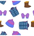 Winter clothing pattern cartoon style vector image