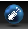 wireless mouse button web icon tool click vector image
