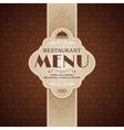 Restaurant cafe menu brochure template vector image