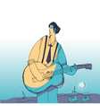 music man vith guitar vector image