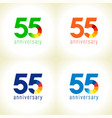 55 anniversary logo concept vector image vector image
