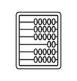 abacus linear icon vector image vector image