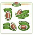american football balls vector image vector image