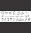 ancient symbols vector image