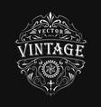 antique label typography vintage frame design vector image vector image