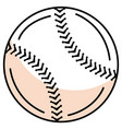 baseball balloon isolated icon vector image vector image