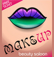 beauty salon 6 vector image