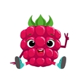 Big Eyed Cute Girly Raspberry Character Sitting vector image vector image