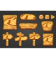 Big set of wooden boards vector image