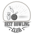 bowling club logos and pictures vector image