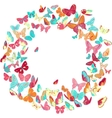 Butterfly frame wreath design element retro vector image vector image