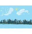 cartoon new york background vector image vector image