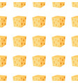cheddar parmesan cheese seamless pattern vector image