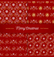 christmas patterns seamless trendy line golden vector image vector image