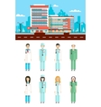 Clinic with doctors vector image vector image