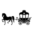 coach silhouette vector image
