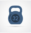 colored weight trendy symbol vector image