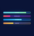 colorful loading bar set modern web element vector image vector image