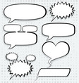 cosmic speech bubbles paper design vector image vector image
