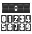 countdown timer mechanical scoreboard blank vector image