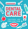 dental care poster vector image