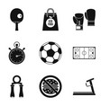different sport icons set simple style vector image vector image