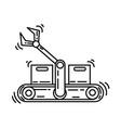 e-commerce productivity icon hand drawn icon set vector image