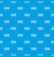 fence decorative pattern seamless blue vector image vector image