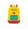 flat backpack vector image vector image