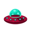 Flying Saucer Toy Aircraft Icon vector image
