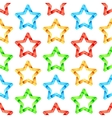 Folded Stars Seamless Pattern vector image