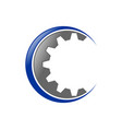 gear cog initial c lettermark icon design vector image vector image