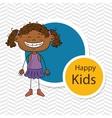 girl kids happy icon vector image