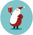 happy santa claus with gift box vector image