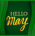 hello may golden with yellow orange gradient vector image