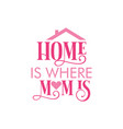 home is where mom is quote vector image vector image