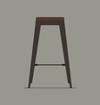 Industrial style steel stool vector image vector image